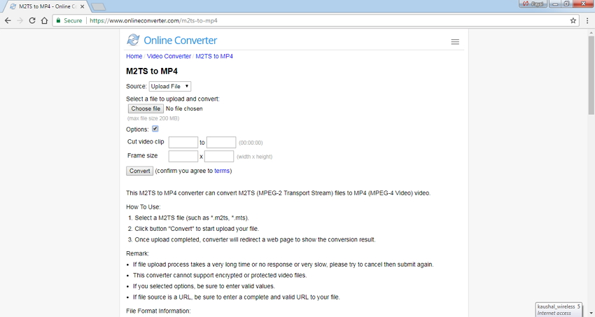 M2TS to MP4 Online converter