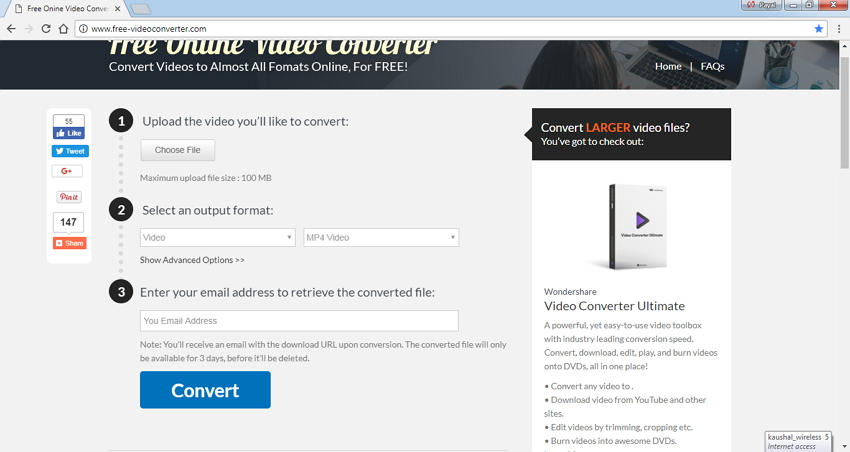 how to change wmv to mp4 online
