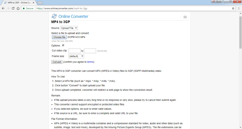 Online Converter for 3GP Conversion