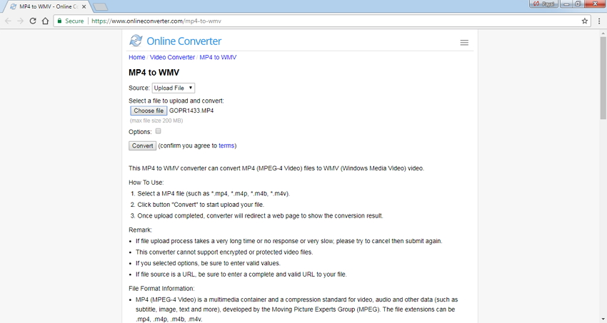 mp4 to wmv online converter Online Converter