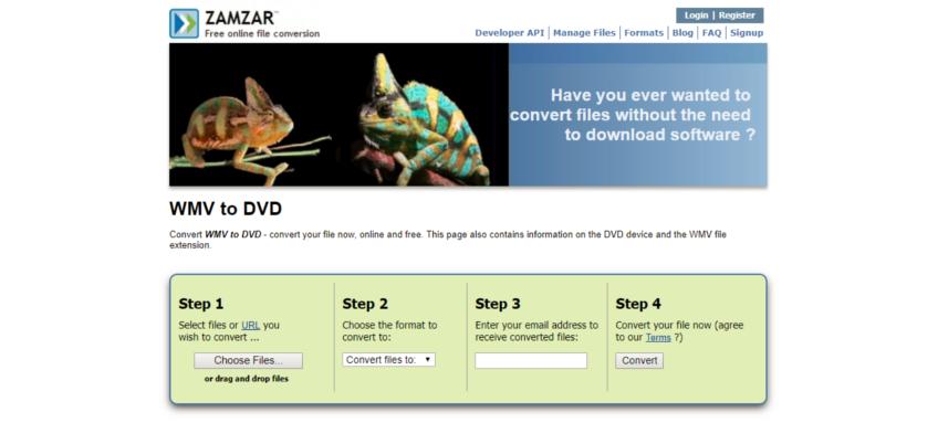 convertit wmv au format dvd en ligne