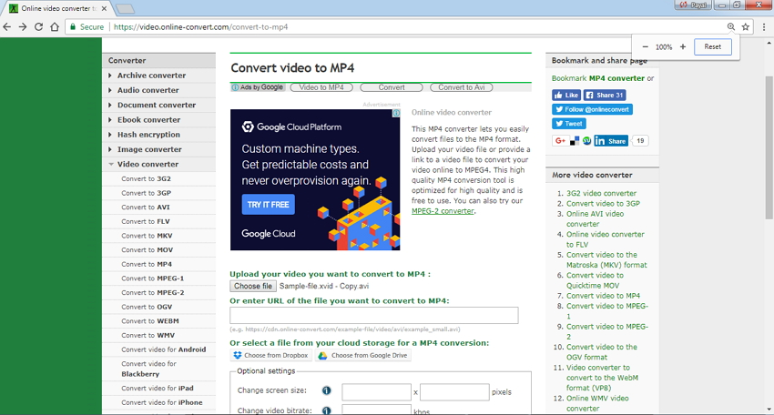 online video converter to mp4 Online Convert