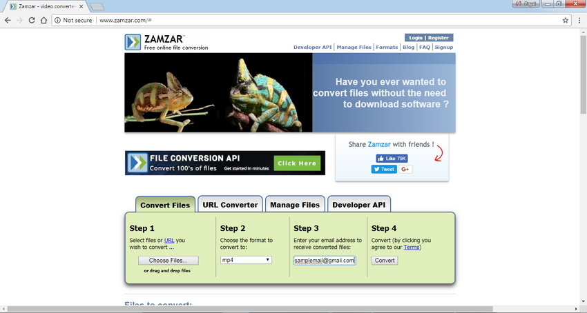 free online video converter to mp4 Zamzar