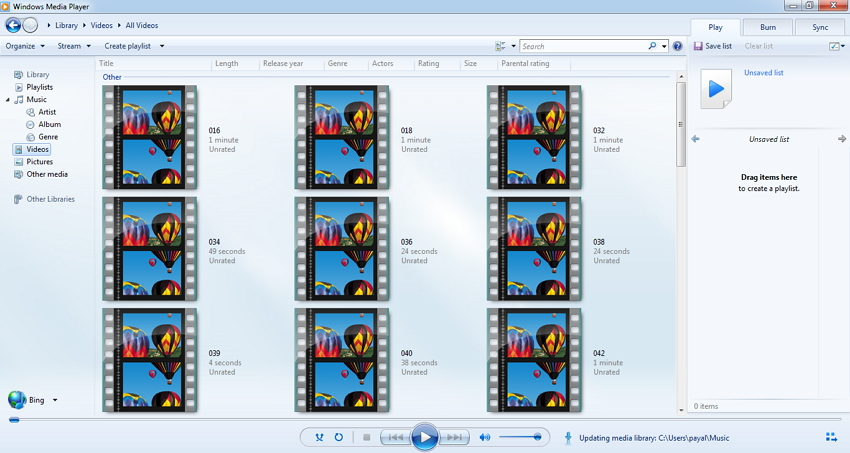 VOB-bestanden afspelen met Windows Media Player