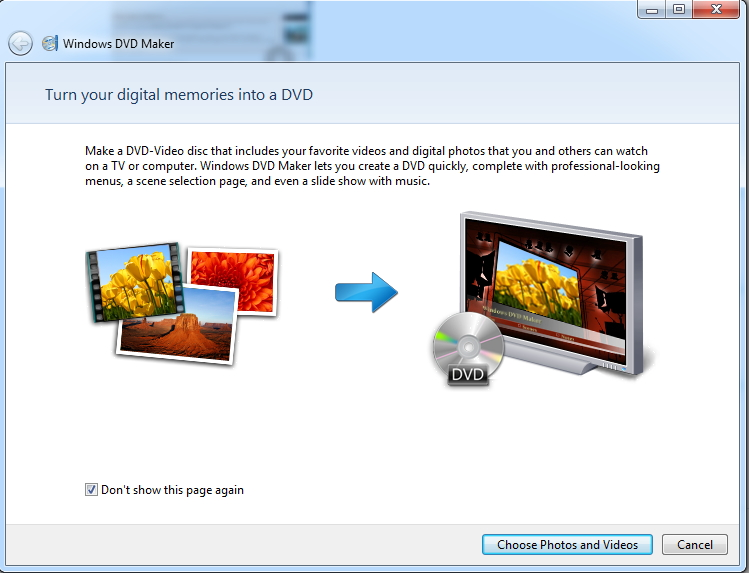 add files to Windows DVD Maker Windows 7