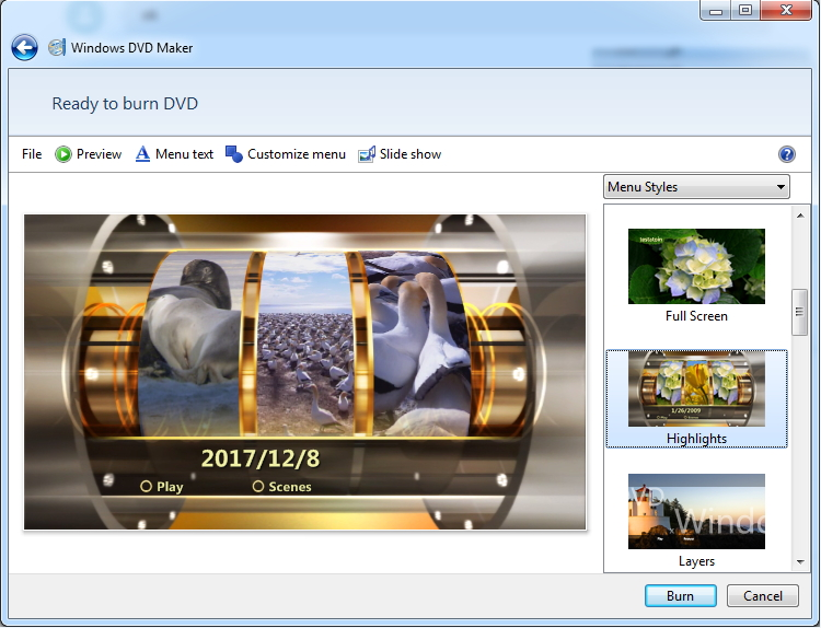 make a dvd with Windows DVD Maker