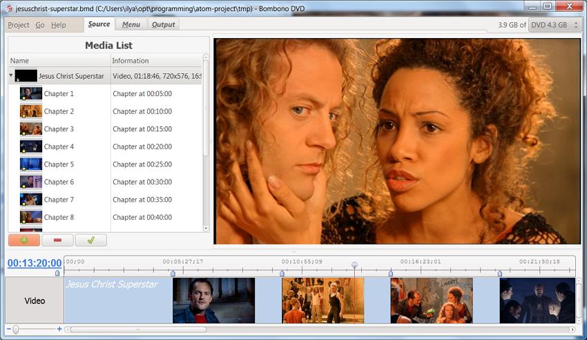 Kostenlose DVD-Authoring-Software Bombono DVD
