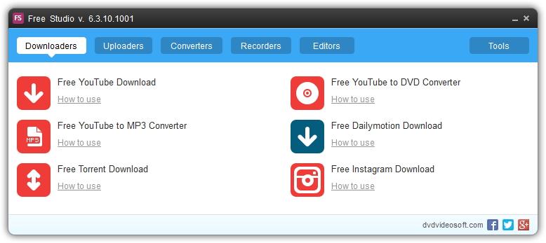 Logiciel de création de DVD gratuit DVDVideoSoft Free Studio