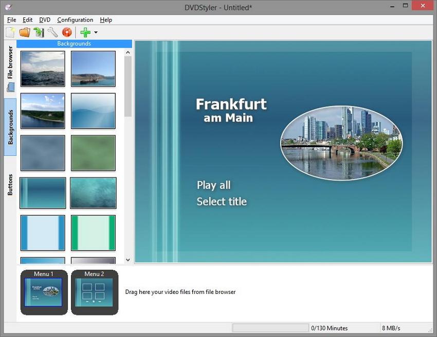 dvd menu creator DVDStyler
