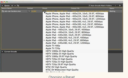 load mov to adobe media encoder