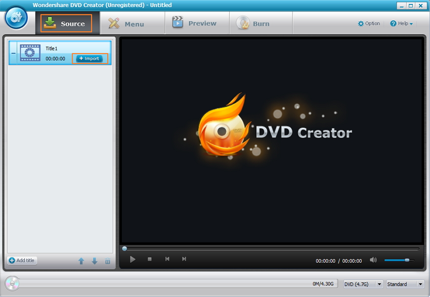 Importa file video MOV