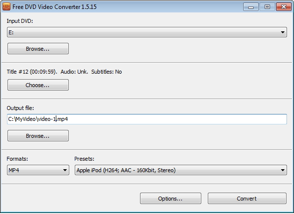 DVDVideoSoft gratuit DVD Video Converter