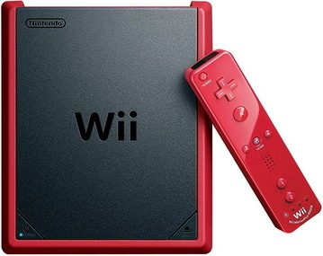 Nintendo Wii Mini Red Console with Mario Kart Wii Game