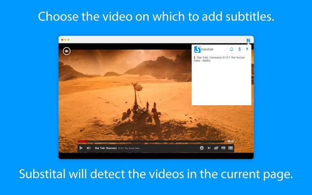 select video for subtitles