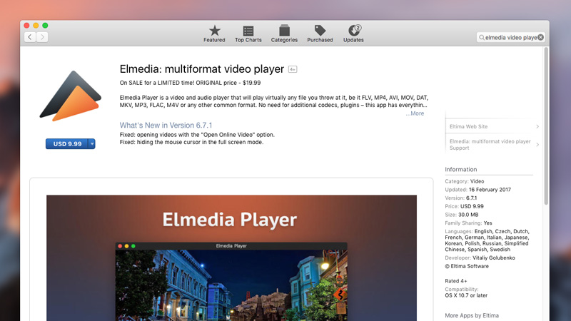 install elmedia universal video player