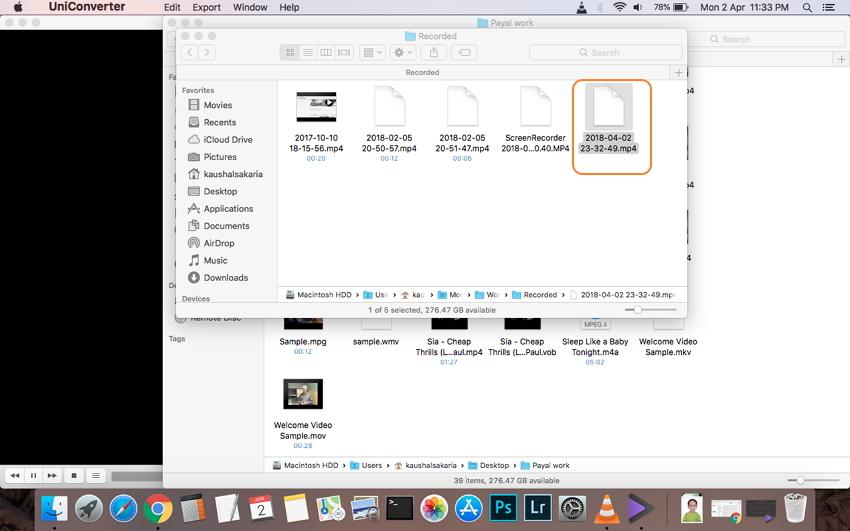 Dateien aufnehmen auf einem Mac