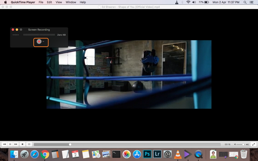 Mac Bildschirmaufnahme starten