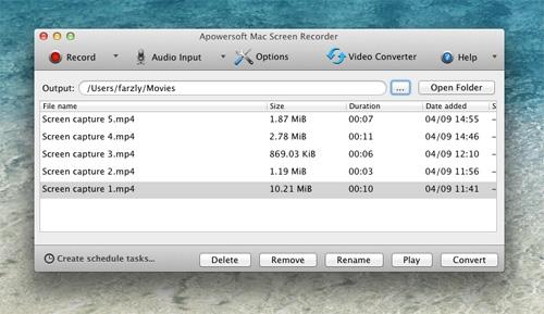 Kostenlose Mac Bildschirmaufnahme