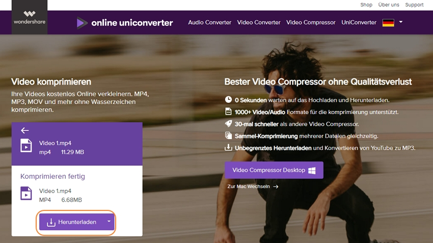 compress MP4 video online