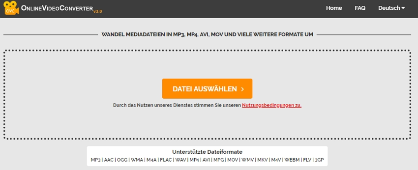 Videos von MOV in MP4 umwandeln, online