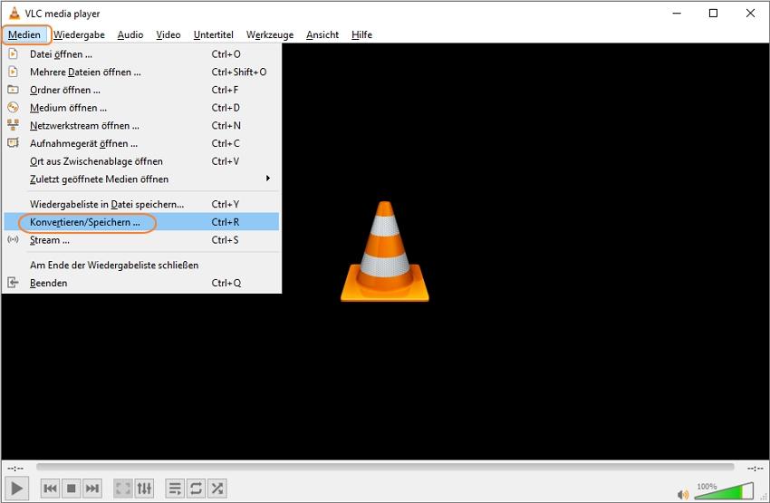 Öffnen Sie Medien in VLC