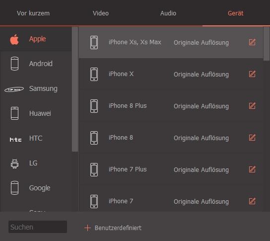 MOV-Dateien in den Videokonverter laden