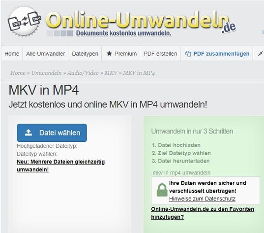 mkv in mp4 umwandeln - Konvertierung abgeschlossen
