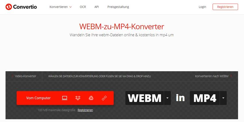 webm in mp4 umwandeln - Konvertierung abgeschlossen