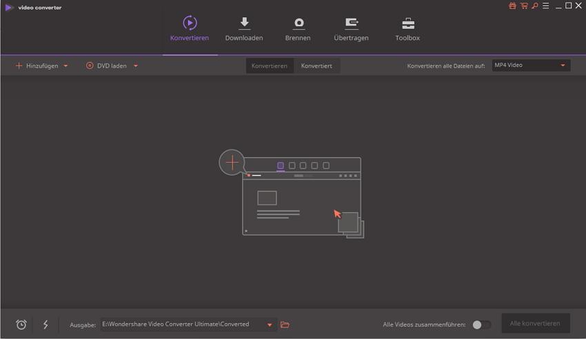 Den Wondershare Video Converter Ultimate installieren ‒ den Wondershare Video Converter Ultimate starten