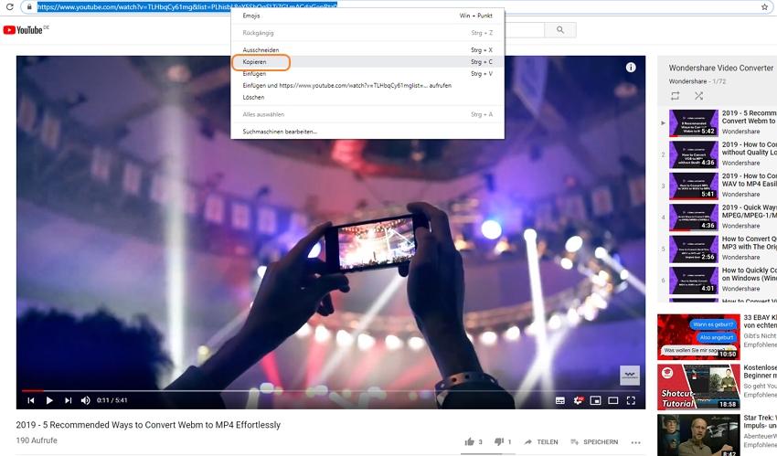 Wie man ein Onlinevideo herunterlädt