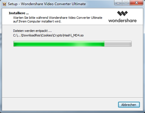 Den Wondershare UniConverter registrieren‒ Update des Wondershare UniConverter