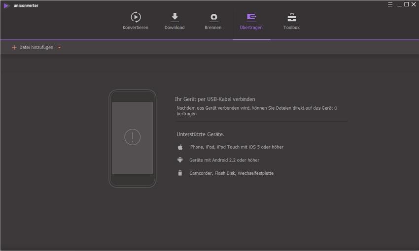 Videos auf iOS-Geräte übertragen