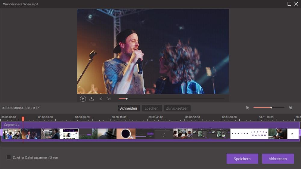 Einfach zu bedienendes Videobearbeitungsprogramm