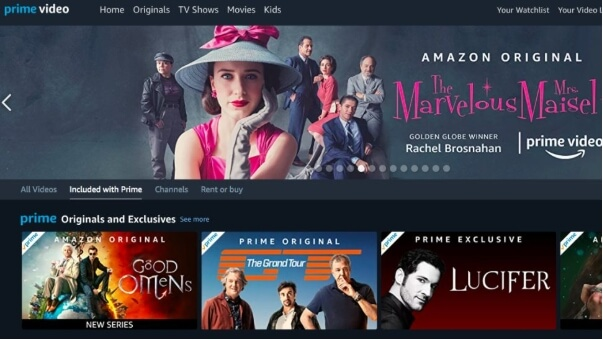 Sites de filmes em 4k - Amazon Prime