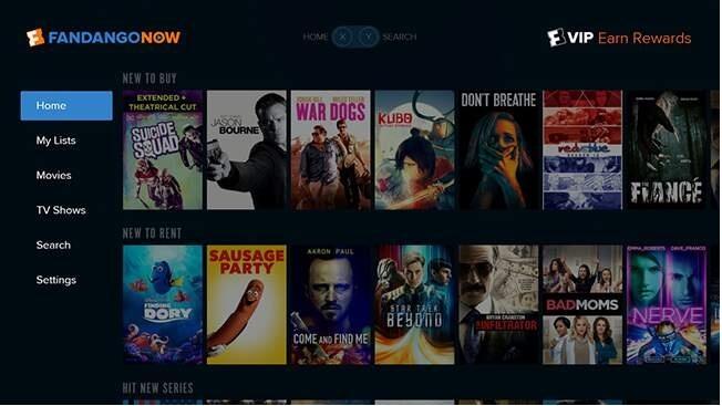 Sites de filmes em 4k - FandangoNow
