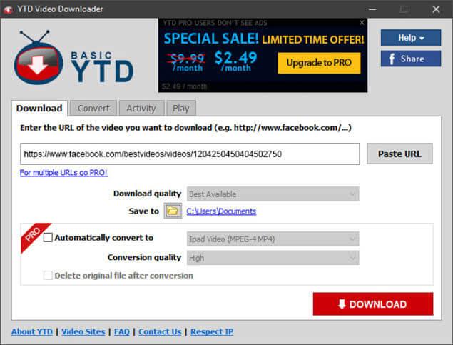 4K Sample Videos downloader - YTD Video Downloader