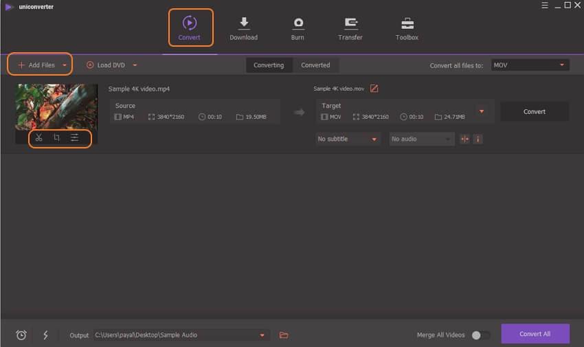 lancer le convertisseur vidéo 4k