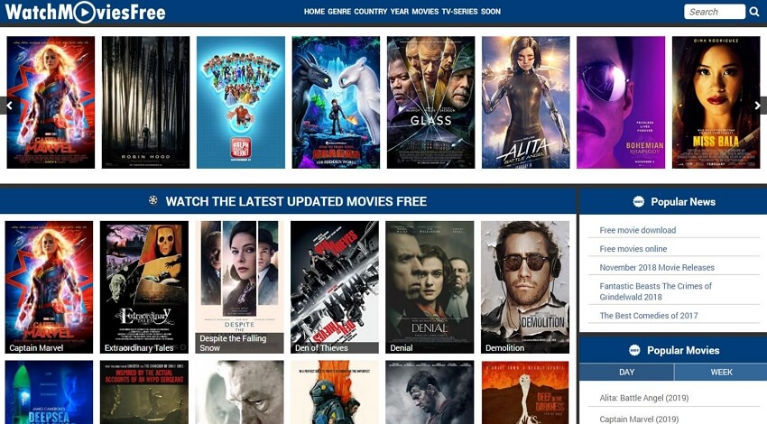 sites de films hindis - WatchMoviesFree