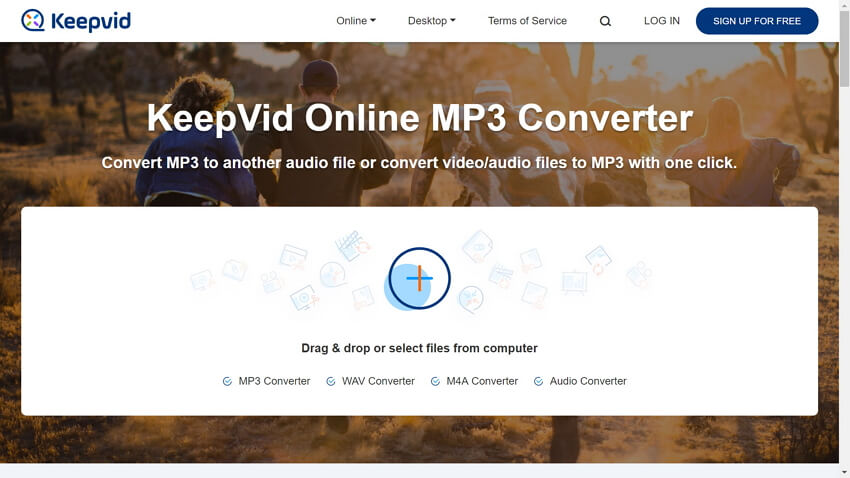 online audio converter - KeepVid