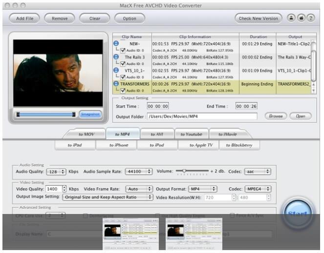 free avchd converter mac - MacX Free AVCHD Video Converter