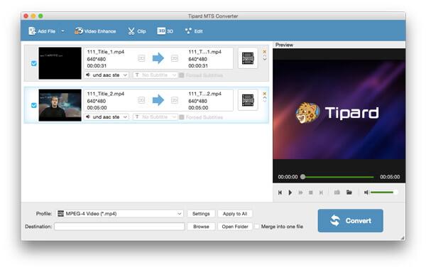 MTS converter Mac - Tipard