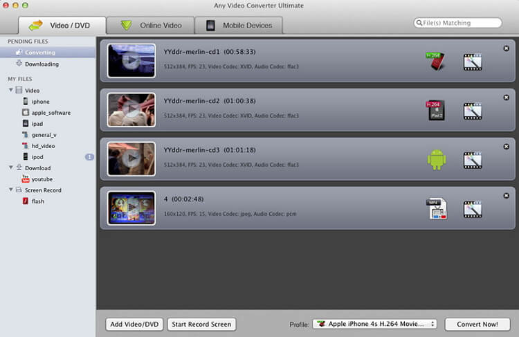 MTS converter Mac - Any Video Converter