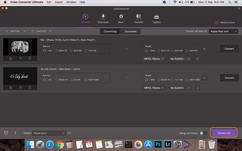 Convertir AVI a iPad Mac