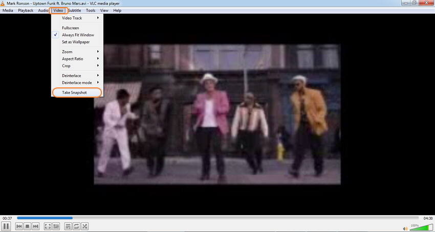 get pictures from video with VLC