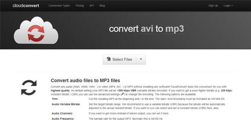online avi to mp3 converter-cloudconvert