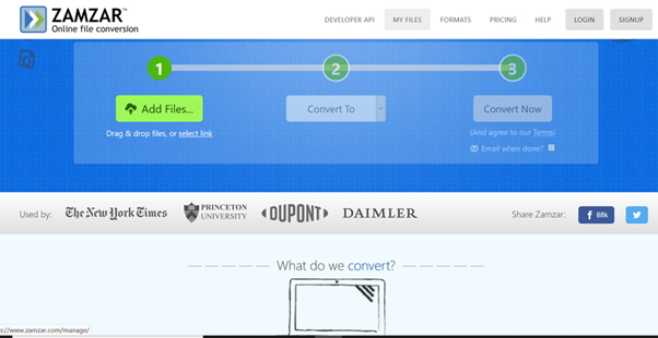 convert AVI to MP4 by Zamzar AVI to MP4 Converter