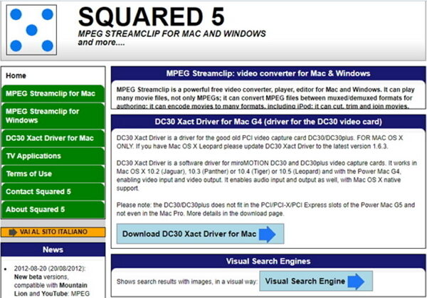 convertir AVI a MPEG con Squared 5