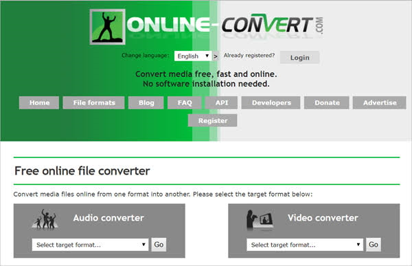 convert AVI to MPEG-2 using Online Convert Video Converter