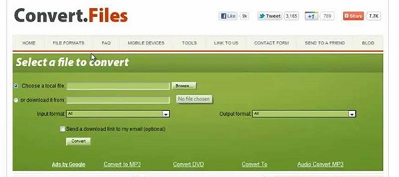convert FLV to AVI by Convert Files Converter