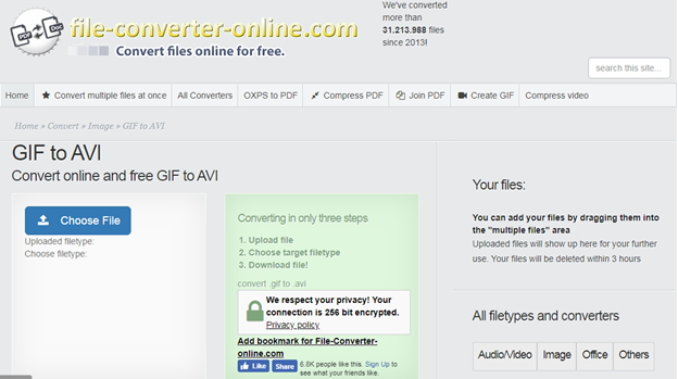 Convertir GIF a AVI Gratis